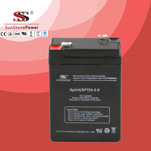 SPT Series 6V2.8AH Sealed Maintenance Free VRLA/SLA AGM Battery for UPS