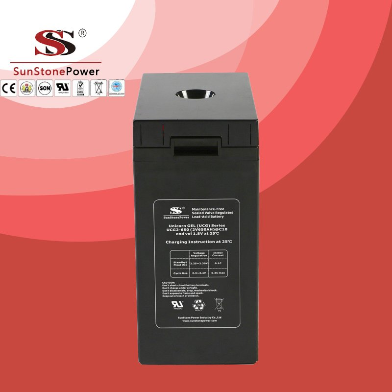 UCG series 2V 650AH Solar GEL battery Deep cycle battery Solar Control system Battery