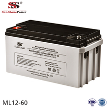Sunstone Power 12V 60AH Deep Cycle AGM Battery Backup Power