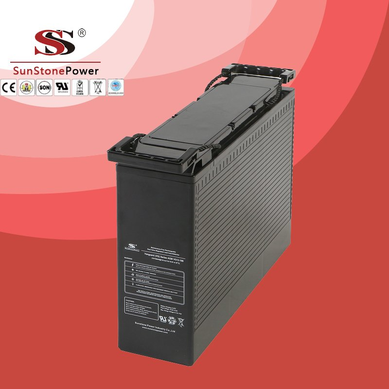 VG Series 12V 100AH Front access Deep cycle battery rechargeable lead acid battery Telecommunication battery