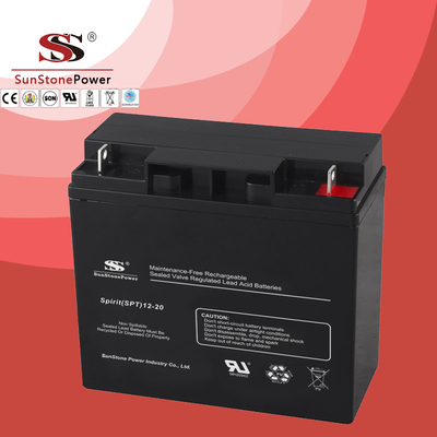 SPT Series 12V20AH Sealed Maintenance Free VRLA/SLA AGM Battery for UPS